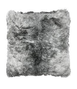 Kissenhüllen Landhausstil Kissen Lammfell Islandschaf, grau