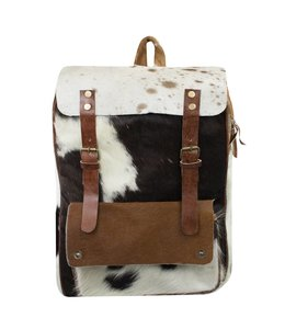 Country-Style Vintage Rucksack Kuhfell
