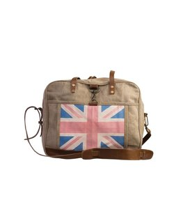 """Isabelle Rose Englische Canvas-Tasche """"Great Britain"""" mit Leder"""