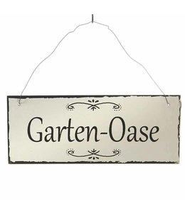 "Landhaus Metallschild ""Garten-Oase"""