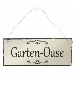"Metallschild ""Garten-Oase"""