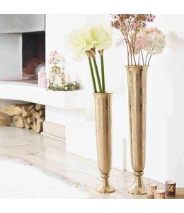 Shabby Chic Schlanke Metall-Vase Kupfer