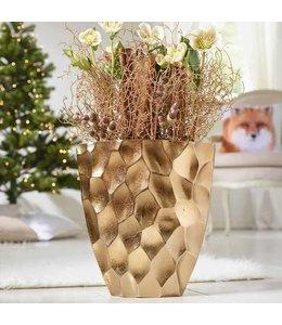 Landhaus Vase Kupfer Wabendesign