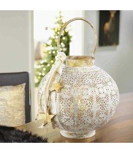Metall Laterne mit Ornamenten (2 Größen)