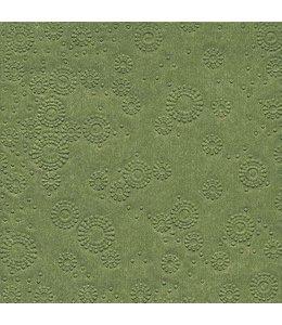 Landhausstil Papierservietten Moosgrün