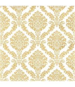 Landhaus Papierservietten Gold-Elegant