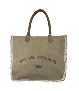 Landhaus Vintage Handtasche mit Fransen