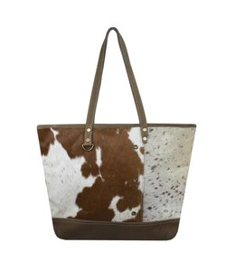 Shabby Chic Vintage Schultertasche Kuh
