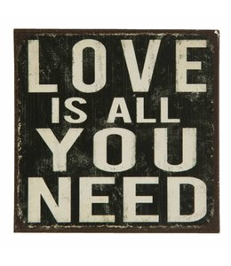 Shabby Chic Kühlschrankmagnet Love is all you need