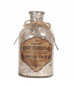 Shabby Chic Deko-Flasche Merry Christmas