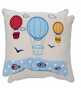 Shabby Chic Deko-Kissen Heißluftballon