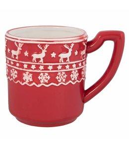 """Shabby Chic Kaffeebecher """"Nordischer Winter"""""""
