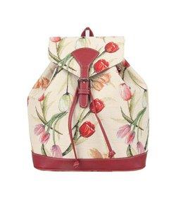 Rucksäcke Rucksack Tulpen weiß
