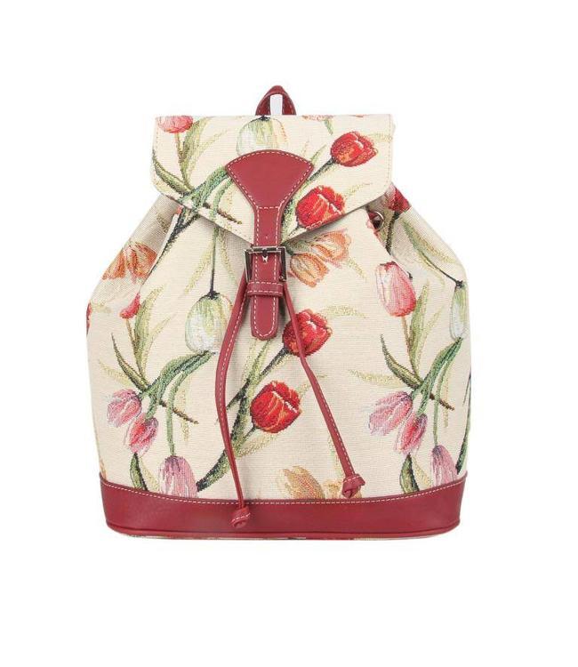 Rucksack Tulpen weiß
