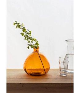 Landhaus Blumenvase orange