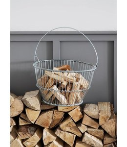 Korb für Anfeuerholz ♛ Englischer Landhausstil