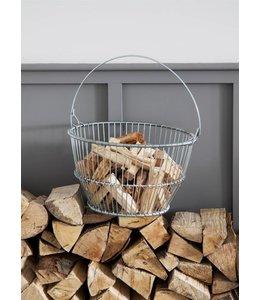 Landhaus Korb für Anfeuerholz ♛ Englischer Landhausstil