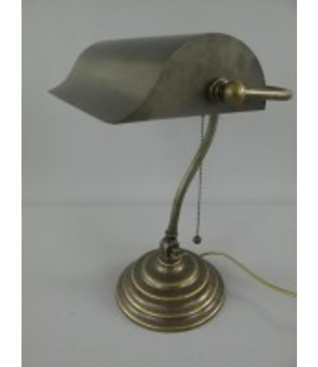 Bankerlampe Messing Antik im nostalgischen Landhausstil