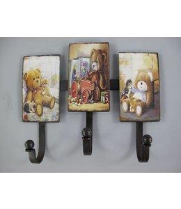 Landhaus Wandhaken Teddybären