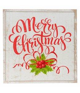 Vintage Deko-Schild Merry Christmas im nostalgischen Landhausstil
