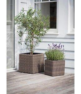 Garten Pflanzgefäße Rattan 2er-Set ♥ Landhausstil
