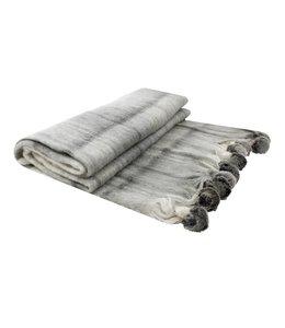 Decken Landhausstil Wolldecke mit Pom Poms