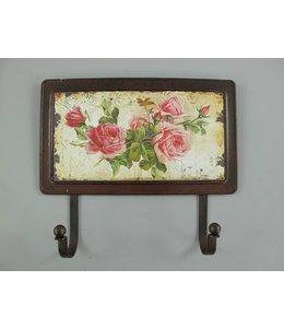 Landhaus Wandhaken Englische Rosen ☆ Nostalgisch