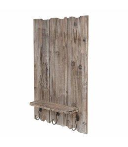 Landhaus Holz-Board mit Kleiderhaken