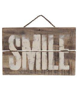 Landhausstil Holzschild Smile