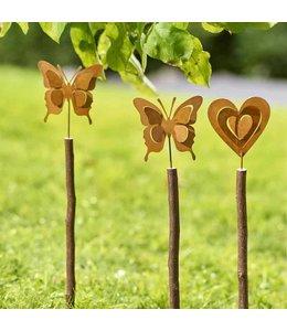 Garten Gartenstecker Schmetterling oder Herz
