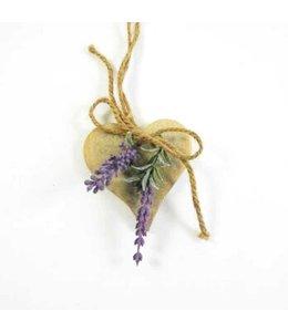 Landhaus Anhänger Herz mit Lavendel