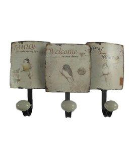 Shabby Chic Kleiderhaken Vögel im englischen Landhausstil