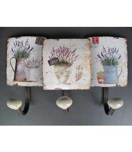 Shabby Chic Kleiderhaken Lavendel im französischen Landhausstil