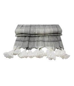 Decken Landhausstil Wolldecke Raute mit Quasten