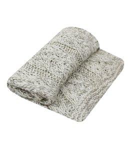 Decken Decke gestrickt naturweiss