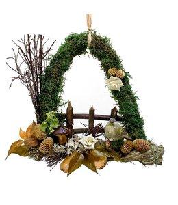 Garten Waldgesteck mit Vogel - Herbstdekoration im Landhausstil
