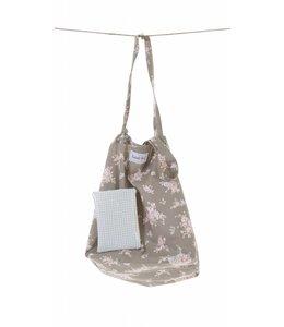Country Style Shopping Bag mit Blumen, braun