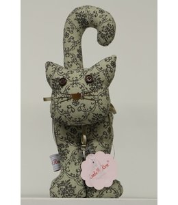 Shabby Chic Türanschlag Katze Antik