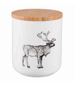 Landhausstil Vorratsdose Keramik Hirsch