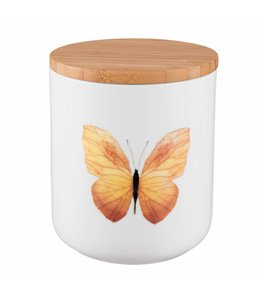 "Vorratsdose Landhaus ""Gelber Schmetterling"" Keramik"