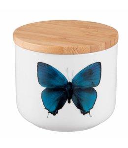 Landhaus Vorratsdose Keramik Schmetterling