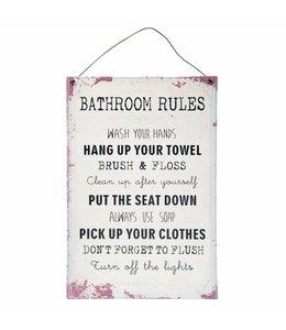Landhausstil Schild Bathroom Rules