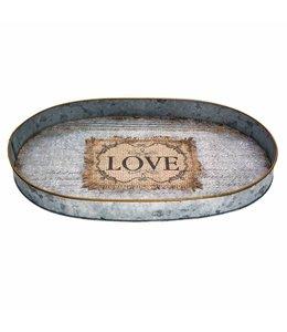 Landhausstil Tablett oval