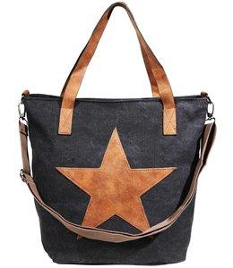 Landhaus Damentasche Country Star, schwarz