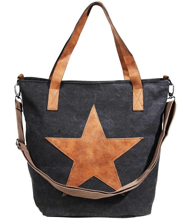 Shabby Chic Damentasche Country Star, schwarz