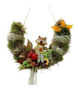 Garten Bogen mit Fuchs mit Herbstdekoration