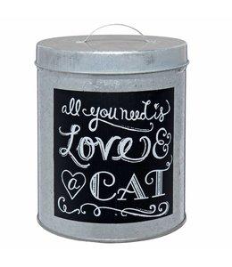 Landhaus Blechdose für Katzenhalter