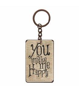 Schlüsselanhänger You make me Happy