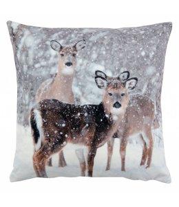 Kissenhülle Winter Rehe 40x40