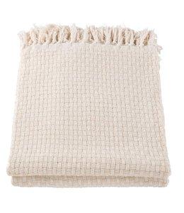Decken Plaid Baumwolle natur